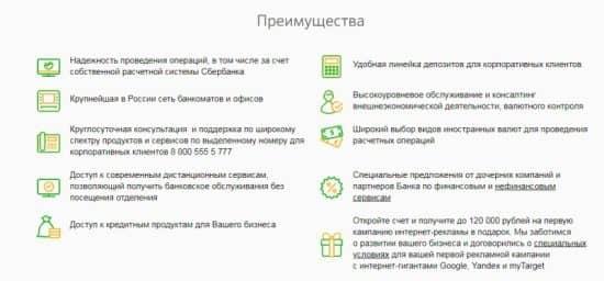 Тарифы РКО в Сбербанке РФ